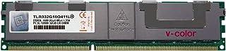 V-Color 32GB (1 x 32GB) 240-Pin DDR3 1600MHz (PC3-12800) 荷载 DIMM 带散热器的 1.35V CL11 4Rx4 四列服务器内存内存内存模块* (TLR332G16Q411L)
