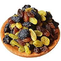 【今年新货】新疆特产三色葡萄干200g*5袋 无核绿宝石黑加仑玫瑰红提子干混合