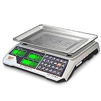 凯丰 商用电子秤超市精准称 电子秤台秤计价秤30kg公斤水果称厨房称 (室内外通用黑字 凹盘 待机180天)