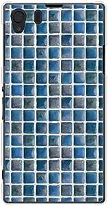 CaseMarket au Xperia Z1 (SOL23) 聚碳酸酯 透明硬质壳 [ 瑞典 瓷砖 - 海洋]