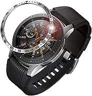 Fintie 包邊戒指適用于 Galaxy 手表 46mm & Gear S3 Frontier & 經典不銹鋼保護殼表圈環膠蓋配件適用于 Galaxy Wat
