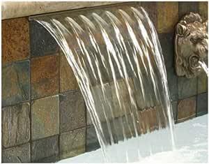 Pentair 581218FSB Magicfalls 水效延展式 6 英寸唇部系列瀑布床单,黄铜色,18 英寸