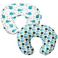 婴儿哺乳枕套2件装,透气可机洗枕套,妈妈哺乳和奶瓶喂养枕套,大拉链超柔软婴儿支撑枕套,适合男孩女孩