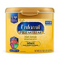 Enfamil 美赞臣 PREMIUM Non-GMO 婴幼儿配方奶粉,可重复利用奶粉罐,0-12月龄,22.2盎司(629克)