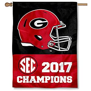 College Flags and Banners Co. Georgia Bulldogs SEC 橄榄球冠军双面国旗