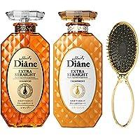 【日本亚马逊限定】Moist Diane黛丝恩 Prefect Beauty Extra Straight 洗发水&护发素套装 450ml×2 + 湿发梳