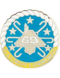 美国* USN USS Eisenhower CV-69 Script and Logo 2.54 cm 翻领别针