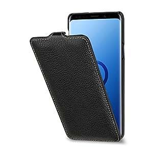 StilGut 三星盖乐世 S9+(9 Plus)手机壳。 超薄垂直皮革翻盖保护套SSGS9PSTTSBK 黑色