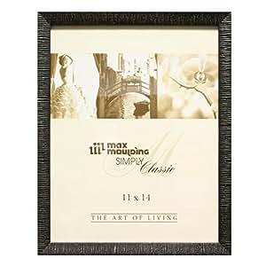 "Maxxi Designs Gallery Frame with Sawtooth Hanger, 11 x 14"", Black Havana"