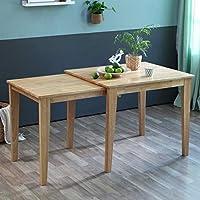 Livinia 实心硬木滑动可扩展餐桌,适合 2 至 4 岁儿童 天然
