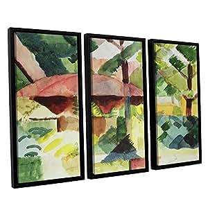 ArtWall Franz Marc's the Garden 3 件浮标加框油画套装 36x54 1mar054c3654f