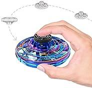 飞行玩具,手动操作UFO无人机,带LED灯,4种播放模式,USB充电迷你飞行球,男孩、女孩、青少年和成人的礼物玩具