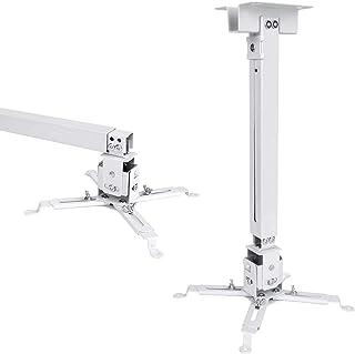 JIFAR 通用 LED 高清投影机天花板壁挂支架支架适用于不同尺寸投影仪(白色)