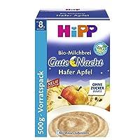 Hipp 喜宝Gute-Nacht米粉 燕麦苹果口味,4盒装 (4 x 500 克)