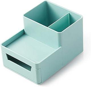 办公桌文件收纳垂直文件信纸托盘壁文件收纳架,带抽屉收纳架,适用于办公家庭 小号 薄荷绿