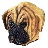 乳胶动物公牛犬头面具万圣节服装狂欢节面具全头动物流行角色扮演