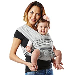 Baby K'tan ORIGINAL Baby Carrier, Heather Grey, Small(0-3岁)