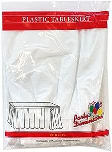 派对尺寸 单片装塑料桌裙,73.66 x 35.56cm,浅蓝色 白色 52008