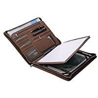 复古 crazy-horse 公文包 padfolio 小巧手机壳适用于 Microsoft Surface Pro 带青少年法律 ( A4) 纸