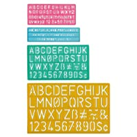 C-Thru Plastic Lettering Guide Set (02145)