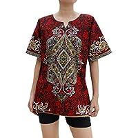 RaanPahMuang 中佩斯利非洲大喜吉斗篷短袖衬衫