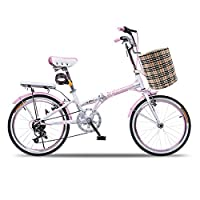 耐嘛 20寸折叠车6速馨逸20寸变速学生车男女儿童淑女便携自行车