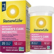 Renew Life Ultimate Flora女性保健益生菌胶囊,250亿CFU,10株,无麸质乳制品和大豆,60粒,60天退款保证