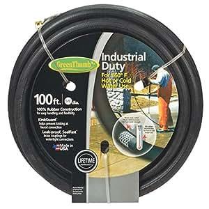 teknor-apex 公司绿色拇指黑色橡胶花园软管 5/8-Inch by 100-Feet