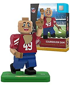 OYO NFL 旧金山 49ers Gen4 限量版 Sourdough Sam 吉祥物迷你人物,小号,白色