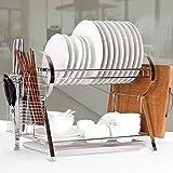 维艾双层不锈钢碗架沥水架厨房用品刀架收纳厨房置物架碗筷碗碟架