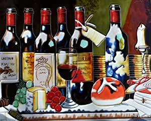Continental Art Center AD-0358 30.48 x 40.64 厘米*瓶陶瓷艺术瓷砖