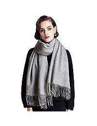羊绒 scarfs 适用于女式和男式大号温暖柔软围巾包头披巾披肩礼品