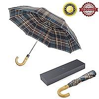 BOY-German 高级伞,大型旅行伞枫木手柄自动开窗防风快干透气折叠高尔夫伞