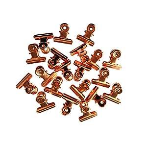 金属斗牛犬夹,3.18 厘米,20 件装 玫瑰金