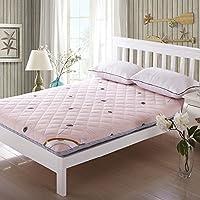 Xanlenss 轩蓝仕 全棉加厚床垫榻榻米 饱满型高弹力褥子 加厚填充床垫床褥 纯棉防滑床垫(180 * 200cm 5.0kg, 蒲公英)