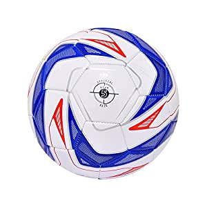 Ecowalker足球 耐磨五号月牙蓝加厚PVC足球 室内外训练比赛足球