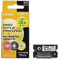 卡西歐 磁盤主題打印機 墨水 絲帶 黑色