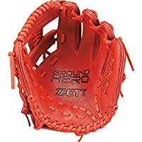 ZETT 少年棒球 软式 手套(手套) 大英雄 全能用 右投用 尺寸:M(适合身高130~145厘米) BJGB72030