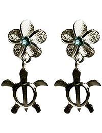 夏威夷珠宝 夏威夷直接进口 银925・蓝宝石・耳环