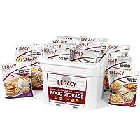美食生存家庭食品存儲器 - 120 大份餐種類:31 磅緊急供應 - 急救準備冷凍干燥供應套件 - 脫水早餐、午餐和晚餐