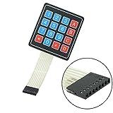 ARCELI 5 件 4x4 大学 16 键开关键盘键盘 适用于 Arduino