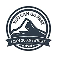 More Shiz You Can Go Fast I Can Go Anywhere 4x4 乙烯基贴花贴纸 - 汽车卡车货车 SUV 窗户墙壁杯笔记本电脑 - 一张 5.5 英寸贴花 - MKS1397