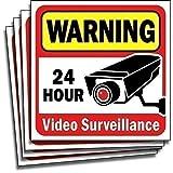 视频*监控贴纸贴花标志适合家居/商业6107946 6Hx6W