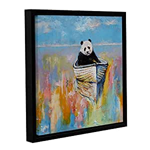 """ArtWall Michael Creese's Panda Gallery Wrapped Floater Framed Canvas, 14 by 14"""""""