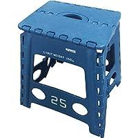 斯洛沃 折叠椅 折叠椅 凳子 凳子 柠檬 蓝色 (使用時)幅39×奥33×高40cm、(折りたたみ時)幅39×奥4.5×高54cm -