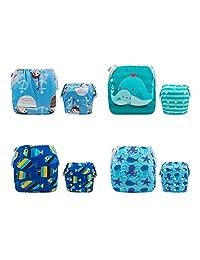 ALVABY 婴儿游泳尿布 2 件套可重复使用和可调节游泳课和婴儿送礼佳品 颜色 28 3 Pack