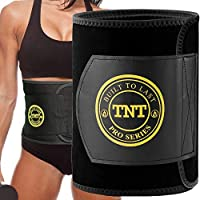 TNT Waist Trimmer Ab Belt for Men and Women - Extra Wide to Cover Entire Midsection - Uniquely Designed to Repel Sweat & Moisture w/ Anti-Slip Grid Technology - No Slipping or Movement of Fabric - Try it 100% Risk Free (X-Large: 10