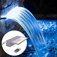 YUDA 照明瀑布水池喷泉 LED 7 变色和遥控 亚克力洒道 适用于纯净 Descent 花园户外 A-900.0 Millimeters