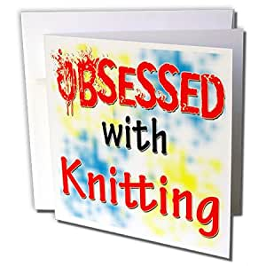 Blonde Designs Obsessed With Knitting - Obsessed With Knitting - 贺卡 Set of 6 Greeting Cards
