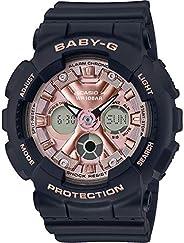 Casio 卡西欧 BA130-1A4 女式黑色模拟数字闹钟计时码表 Baby G 手表